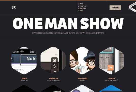 10 Desain Website Portfolio Brilian Dengan Html5