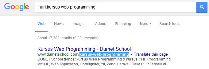 Tips mencari konten dengan dork teks di Google Search