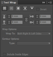 Option Text Wrap pada Indesign