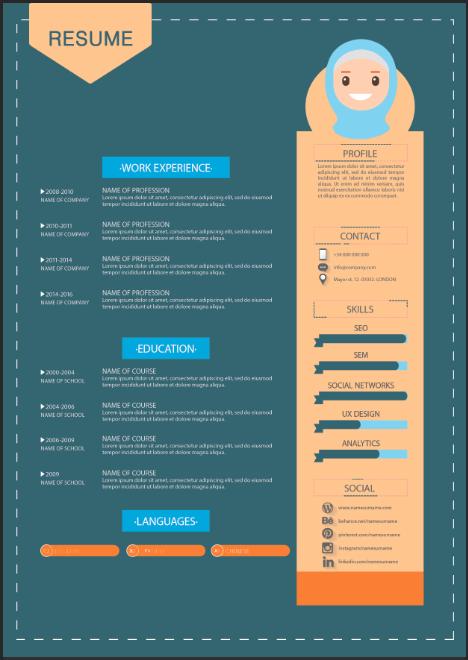 Cara Membuat Desain Template Resume atau CV dengan Illustrator