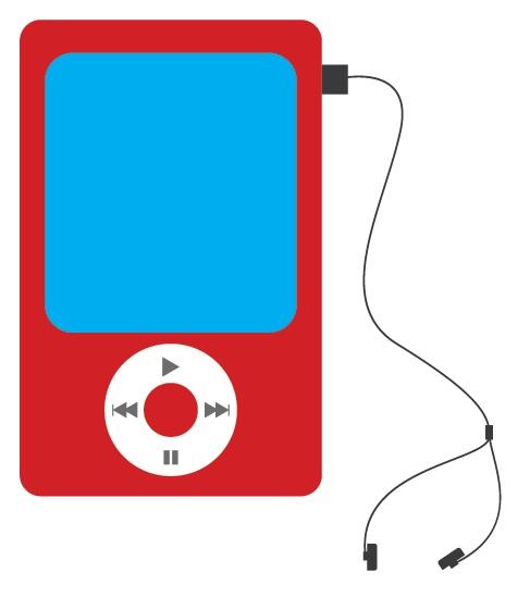 Membuat Desain Flat MP3 Player di Adobe Illustrator